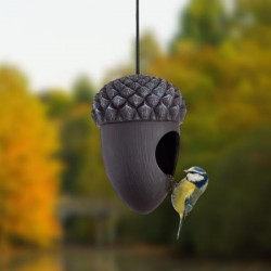 Madárház madáretető makk forma