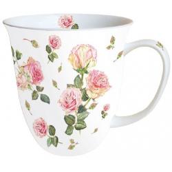 Porcelán bögre 0,4l rózsás
