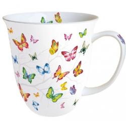 Porcelán bögre 0,4l pillangós