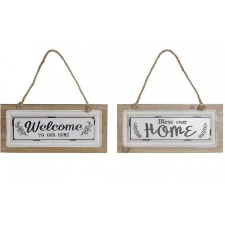Fali vagy ajtó dekor akasztós Home