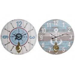 Fa fali óra fém ingával 58cm, 2 féle