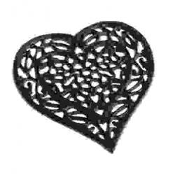 Öntöttvas edényalátét barna szív