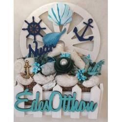 Asztaldísz , fali dísz Édes otthon tengeri dekor