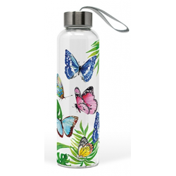 Üveg flaska 550ml, Butterfly Splash