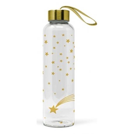 Üveg flaska 550ml, Gold Stars