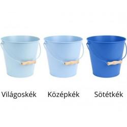 Fém vödör 3 féle kék