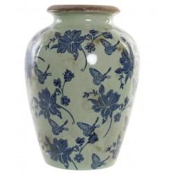 Kerámia váza pillangós kék