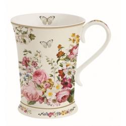 Porcelán bögre 270ml, díszdobozban ,színes virágos