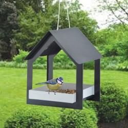 Felakasztható madáretető, fekete-fehér