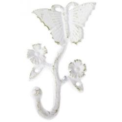 Öntöttvas falifogas pillangós fehér