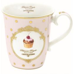 Porcelán bögre 275ml Dots&cupcakes