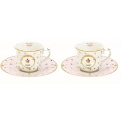 Porcelán eszpresszó csésze+alj 90 ml 2 személyes