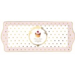 Műanyag tálca 35x15cm Dots&cupcakes
