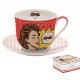 Porcelán reggeliző csésze+alj 400ml