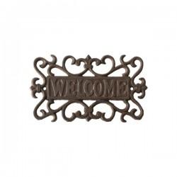 Öntöttvas tábla Welcome