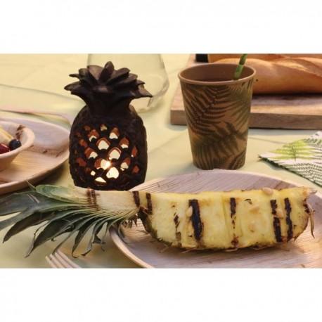 Öntöttvas ananász mécsestartó