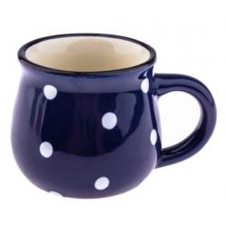 Kerámia espresso bögre pöttyös 75ml kék