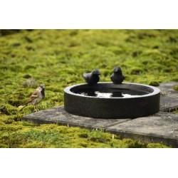 Terrazzo madáretető- és itató tál, kerek