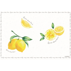 Müanyag tányéralátét 45x30cm citromos