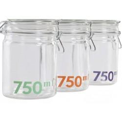 Csatos tároló üveg 750 ml 3 szín