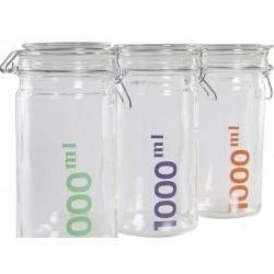 Csatos tároló üveg 1000 ml 3 szín