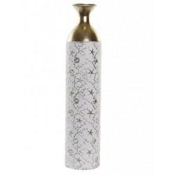 Fém váza fehér, aranyozott 62cm