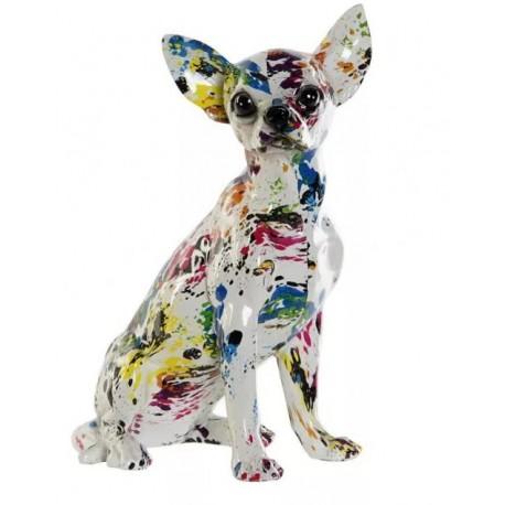 Dísz figura színes Chihuahua
