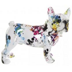Dísz figura színes Bulldog