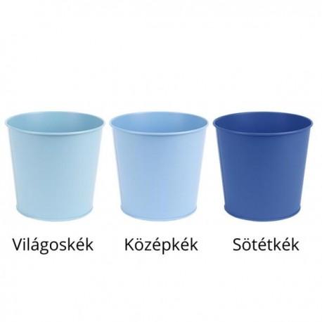 Fém virágkaspó kék 3 féle