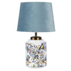 Asztali lámpa kerámia madaras