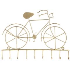 Fém kulcstartó fogas bicikli arany