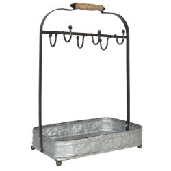 Fém bögretartó állvány fém tálcával