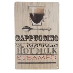 Fém falikép kávés 20x30cm