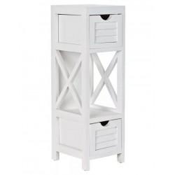 Fiókos szekrény fa fehér