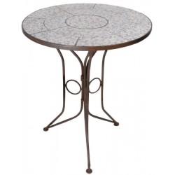 Öntöttvas Kerti asztal kerámia lappal