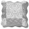 Steppelt barna fehér csíkos virágos - textil párnahuzat