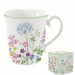 Porcelán bögre díszdobozban 275ml virágos