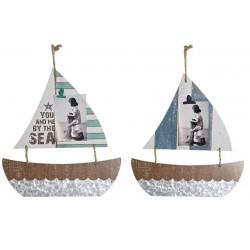 Fa fali dekoráció fénykép csiptetővel hajós