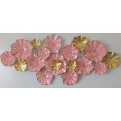 Fém fali dekoráció virágok 163cm