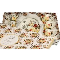 Porcelán teáscsésze szett 6db-os, 200ml Zahra