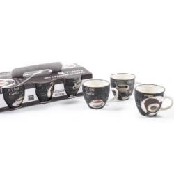 Porcelán eszpresszó csésze szett 6 db 100 ml