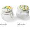 Tárolóüveg csatos kerámia tetővel 2féle citrom