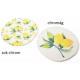 Fonott tányéralátét 2féle citromos