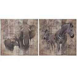 Vászon falikép 50x50cm Vadon 2 féle