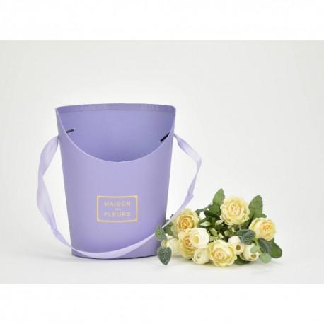 Papír virágtartó lila