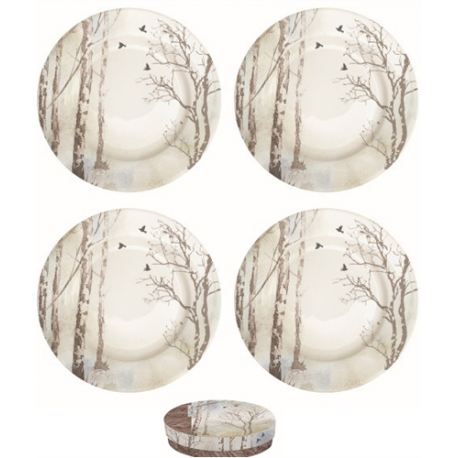 Porcelán desszerttányér szett 4db-os Faded