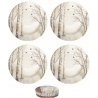 Porcelán desszerttányér szett 4db-os Faded dreams