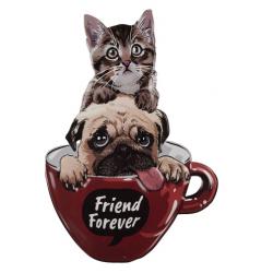 Fali fém tábla Friends Forever