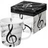 Porcelán bögre 0,35l I love music