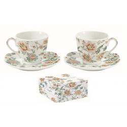 Porcelán teáscsésze + alj szett 2db-os